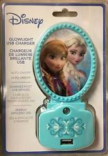 Disney Frozen Anna and Elsa Glowlight Usb Charger New