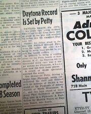 1964 DAYTONA 500 Richard Petty's 1st Win NASCAR & Sonny Liston Predict Newspaper