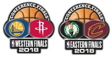 2018 EASTERN WESTERN CONFERENCE TEAM PIN SET WARRIORS ROCKETS CAVALIERS CELTICS
