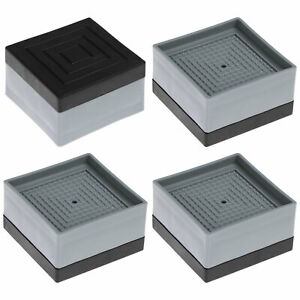 4 Pcs Stackable Furniture Risers Heavy Duty Levelers for Sofa Bed Washer Fridge