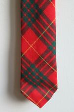 "Cameron Tartan Red Green Plaid 100% Wool Made In Scotland Neck Tie 3"" x 56"""