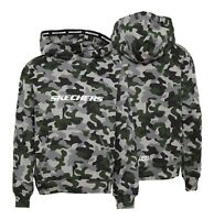 Boys SKECHERS Cotton Brushback Fleece Overhead Hoodie Sizes Age from 4 to 15 Yrs