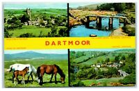 Postcard Dartmoor Devon 4 views