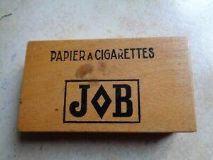 boite bois jeux de cartes papier a cigarettes JOB