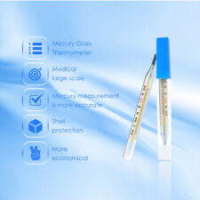 2 PCS Cofoe Medical Glass Thermometer Clinical Medical Temperature Measurement