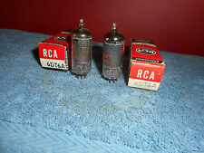 Rca 6Dt6A Vacuum Tubes Pair Nos Matching Tab Date (9-60) Black Plate Audio Radio