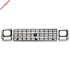 New For 1992-1996 G20 G30 Van Single Retangular Grille Headlight Door Bezel 3pcs