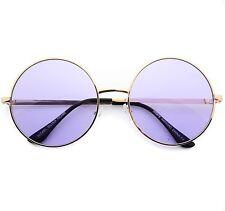 Metal Round Circle Ozzy Elton John Purple Color Tint Lennon Style Sunglasses