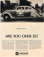 1934 Chrysler Airflow 1964 Vtg Print Ad