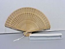 Chinese Sandalwood Style Wooden Hand Fans 12 pack