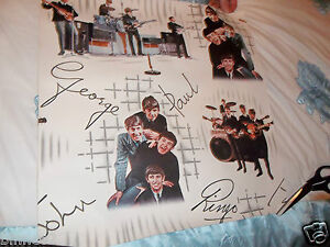 THE BEATLES WALLPAPER ORIGINAL 1964  MINT ALL PATTERNS ARE SHOWN ON THIS 1 PIECE