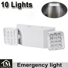 10x Led Emergency Exit Light Double Heads Home Office Market Ul Lighting Lamp Us