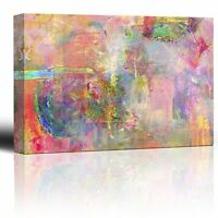 Colorful Pastel Abstract Watercolor Paint Texture - Canvas Art Home Decor -16x24