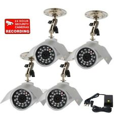 4 CCTV Night Vision Outdoor CCD Security Camera IR Weatherproof Surveillance BUM