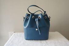AUTH Michael Kors Purse Greenwich Saffiano Leather Medium Bucket Crossbody Bag