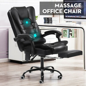 Executive Massage Computer Office Desk Seat Gaming Chair Swivel Recliner Chair