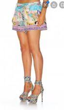 Camilla Gaudi Tribute Shorts $4 EXPRESS Size 2 Medium Franks Tie Belt Zip Front
