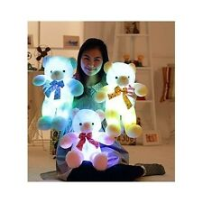 "LED Teddy Bear Light Up Yellow Plush Toy 20"" Stuffed Animal Glowing Kids Gift"