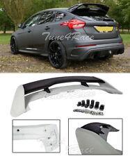 For 13-Up Focus Hatchback Roof Spoiler & Black Wing Riser Extension Kit RS Style