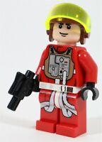 LEGO STAR WARS REBEL B-WING PILOT MINIFIGURE FIGURE 75010 RARE FIGURE - GENUINE