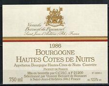 Etiquette de Vin - Bourgogne - Hautes Cotes de Nuits - New-Never Stuck- Réf.n°83