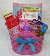 Strawberry shortcake Filled Easter Birthday Basket Pink gum color bubbles CUTE!