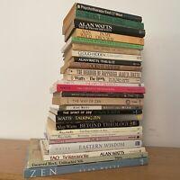 Lot of 26 Alan Watts Books Esoteric Zen Buddhism Occult Alchemy Metaphysical LSD