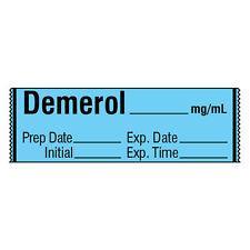 Narcotics Medication Label Tape DEMEROL__mg/mL 500 roll