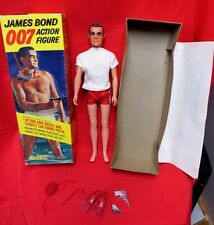 GILBERT 007 SEAN CONNERY JAMES BOND ACTION FIGURE BOXED SET VINTAGE 1965