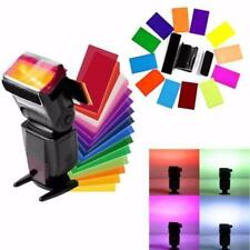 12 Pcs FLash/Speedlite/Speedlight Color Gels Filter Card For Camera Photo New CB
