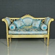 SOFA BAROQUE STYLE ROYAL SOFA NAPLES - BLUE  #MB420