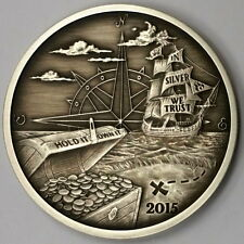 2015 Finding Silverbug Island #1 1oz 999 Silver Proof ANTIQUED ~ 2k ~ REDDIT