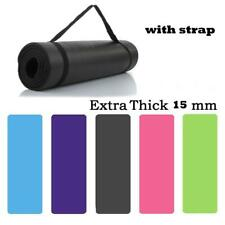 Thick 15mm Exercise & Fitness Non-Slip Yoga Mats Lose Weight Meditation Pad