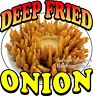 Deep Fried Onion DECAL (Choose Your Size) Concession Food Truck Vinyl Sticker