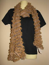 Fratelli Talli Women's Light Brown Knit Wool Blend Scarf - One Size - NWT