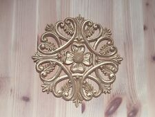 Large Gold Round Shabby Chic Furniture Decal Resin Applique Onlay Moulding