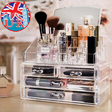 NEW 4 Drawers Makeup Case Storage Holder Box Clear Acrylic Cosmetic Organizer