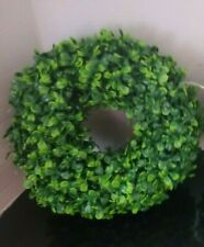 "Vickerman 10"" Artificial Green Boxwood Door Wreath Set Of 2 New"