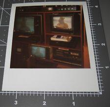 TV Set Display ALF Alien TV SHOW Puppet Vintage 1980's Polaroid Snapshot PHOTO