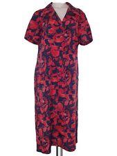 abito ginocchio donna rosso blu sartoriale vintage anni 70 taglia xl extra large