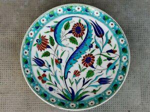 Ancien plat THÉODORE DECK céramique style iznik pottery