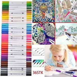 36 Farbe Acrylstifte Marker Set Permanent Wasserfest Pen Für DIY Graffiti Steine