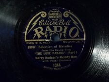 "Harry Hudson 's Melody Men ""The Love Parade-Part I & II"" Edison Bell 20cm"
