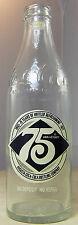 75th Anniversary COKE COCA-COLA Bottle 10 oz Augusta EMPTY 1902 -1977