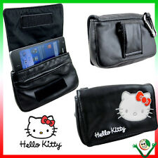 Custodia NERA borsa originale HELLO KITTY cintura p Samsung Galaxy S2 Plus i9105