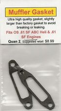 OS .61 SF ABC & Heli Exhaust/Muffler Gasket 2 Pack NIP