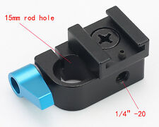 15mm Single Rod Clamp Articulating Cold Shoe Adapter for DSLR Rig Monitor Video
