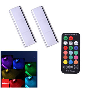 Car RGB LED Wireless Interior Decorative Ambient Light Foot Lamp Remote Control