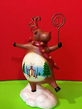 Russ Berrie Reindeer Note Or Photo Holder Figurine Gift Collectible