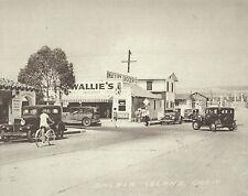 NEWPORT BEACH Balboa Island Wallie's Marine St VINTAGE Photo Print 1479 11 x 14